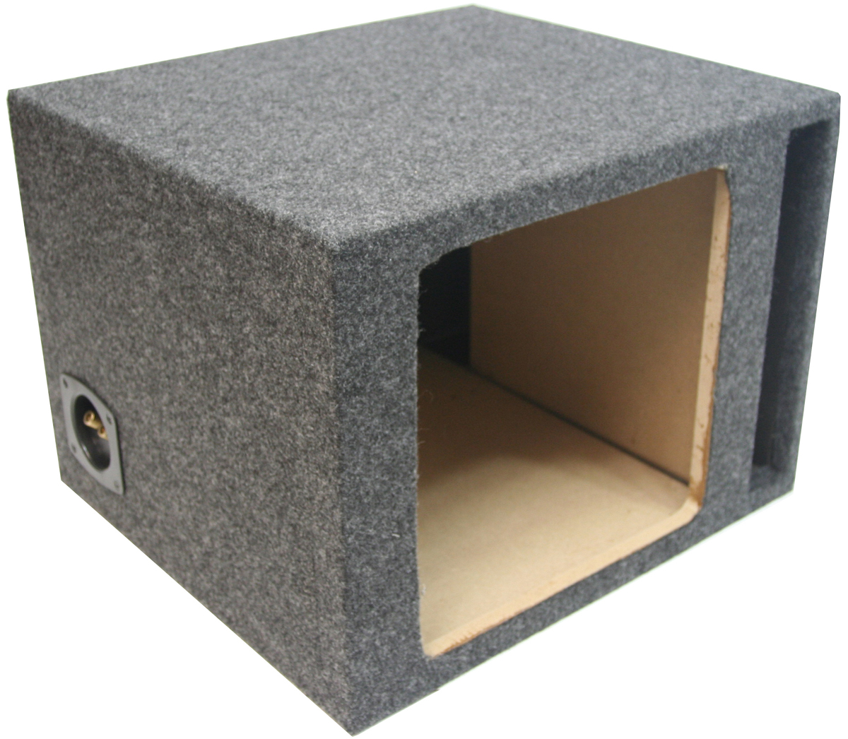 single 10 ported kicker square sub box enclosure 110sqv. Black Bedroom Furniture Sets. Home Design Ideas