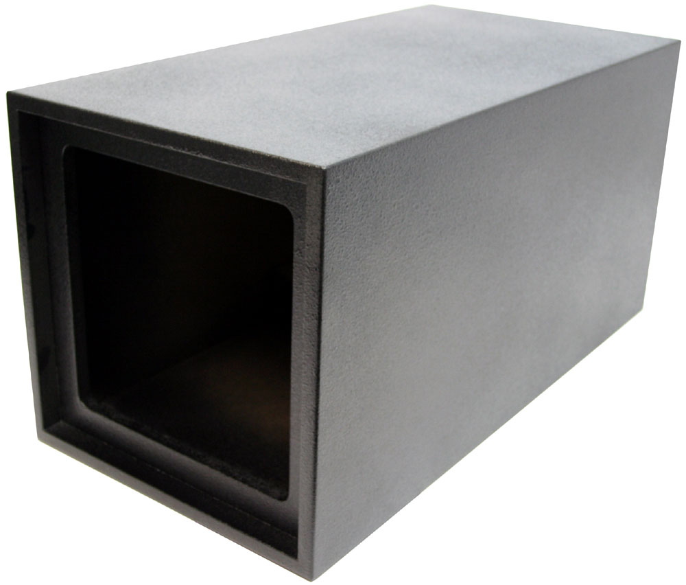 single 12 kicker square ported tube universal fit sub box. Black Bedroom Furniture Sets. Home Design Ideas