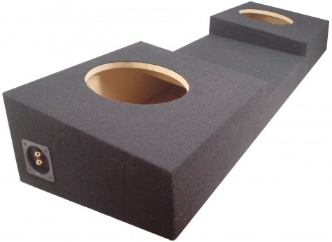 "1988-2006 Chevy C/K Silverado or GMC Sierra Full Size Truck Regular Cab Dual 12"" Console Sub Box"