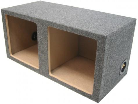 "Dual 10"" Sealed Kicker Square Sub Box Enclosure"