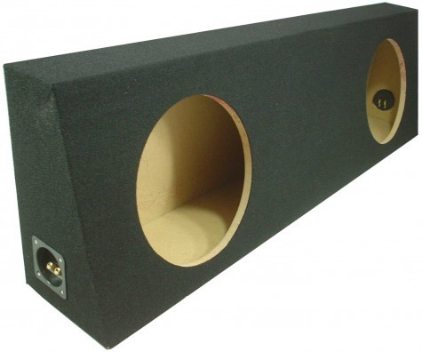 "Dual 10"" Sealed Regular Cab Truck Sub Box Enclosure (Black Carpet)"