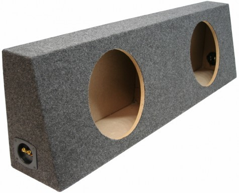 "Dual 10"" Sealed Regular Cab Truck Sub Box Enclosure (Gray Carpet)"