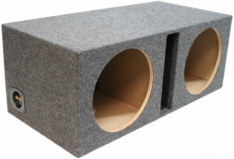 "Dual 12"" Ported 1"" MDF Universal Fit Sub Box Enclosure"