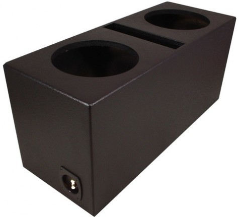 "Dual 12"" Ported Universal Fit Sub Box Enclosure (Armor Coated)"