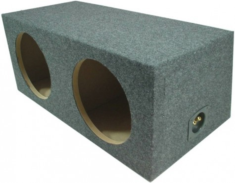 "Dual 12"" Rearfire Sealed Universal Fit Sub Box Enclosure"