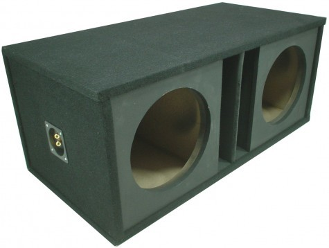 "Dual 12"" Slot Vented Paintable Baffle Universal Fit Sub Box Enclosure"