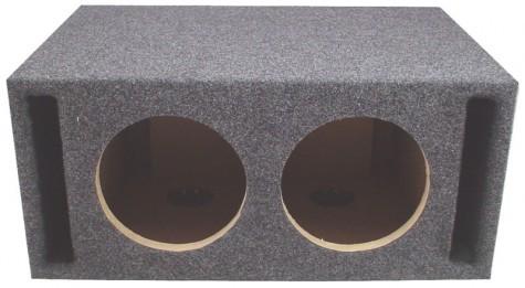 "Dual 8"" Slot Vented Megabass Universal Fit Sub Box Enclosure"