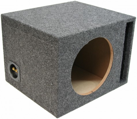 "Single 10"" Ported 1"" MDF Universal Fit Sub Box Enclosure"