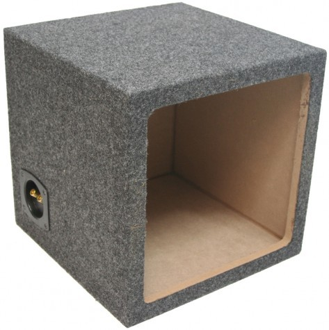 "Single 10"" Sealed Kicker Square Sub Box Enclosure"