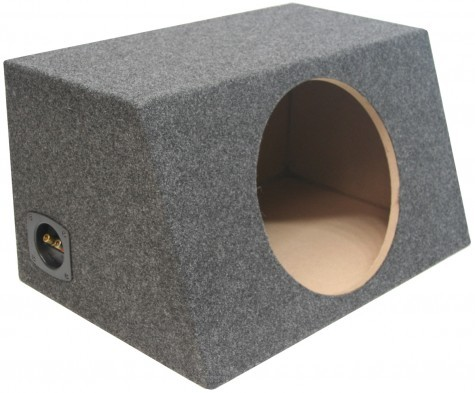 "Single 12"" Angled Hatch Sealed Universal Fit Sub Box Enclosure"