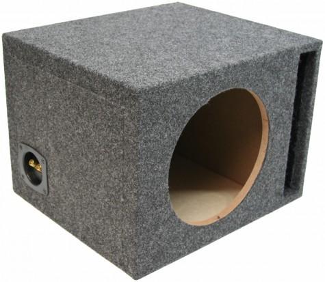 "Single 12"" Ported 1"" MDF Universal Fit Sub Box Enclosure"