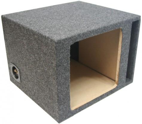 """Single 12"""" Ported Kicker Square Sub Box Enclosure"""