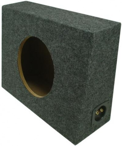 "Single 12"" Sealed Regular Cab Truck Sub Box Enclosure"