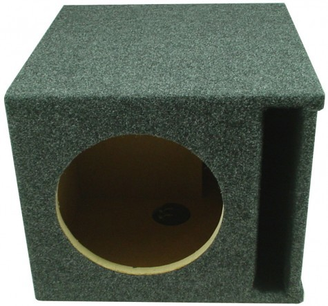 "Single 12"" Slot Vented Megabass Universal Fit Sub Box Enclosure"