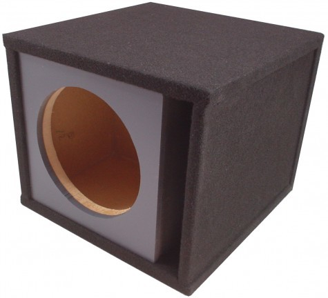 "Single 12"" Slot Vented Paintable Baffle Universal Fit Sub Box Enclosure"
