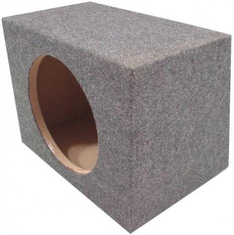 "Single 15"" Rearfire Sealed 1"" MDF Universal Fit Sub Box Enclosure"