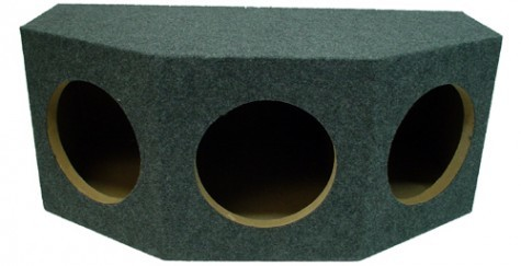 "Triple 10"" Rearfire Sealed 1"" MDF Universal Fit Sub Box Enclosure"