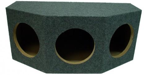 "Triple 12"" Rearfire Sealed 1"" MDF Universal Fit Sub Box Enclosure"