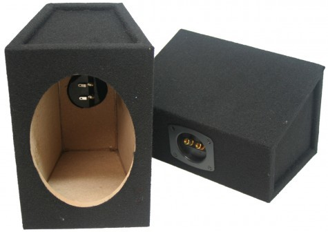 "Universal Car Audio 6x9""  Speaker Box Enclosure Pair Black"