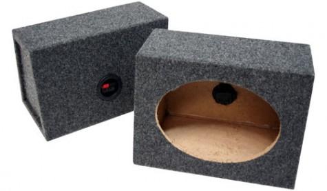 "Universal Car Audio 6x9""  Wedge Speaker Box Enclosure Pair"